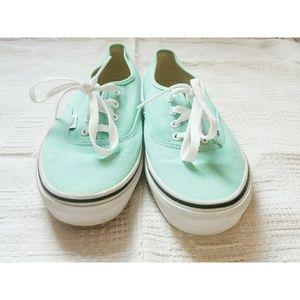 VANS Unisex Authentic Low Top Mint Green Sneakers